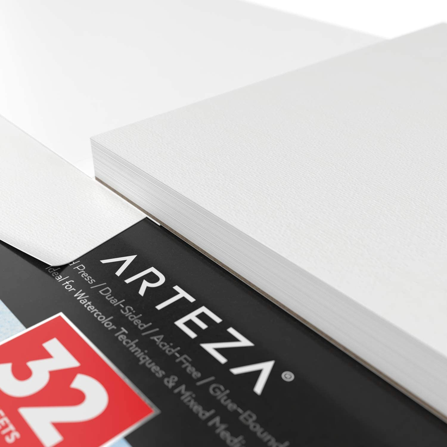 Acid Free Paper Ideal for Watercolor Techniques and Mixed Media ARTEZA 9x12 Expert Watercolor Pad 140lb//300gsm 32 Sheets Cold Pressed