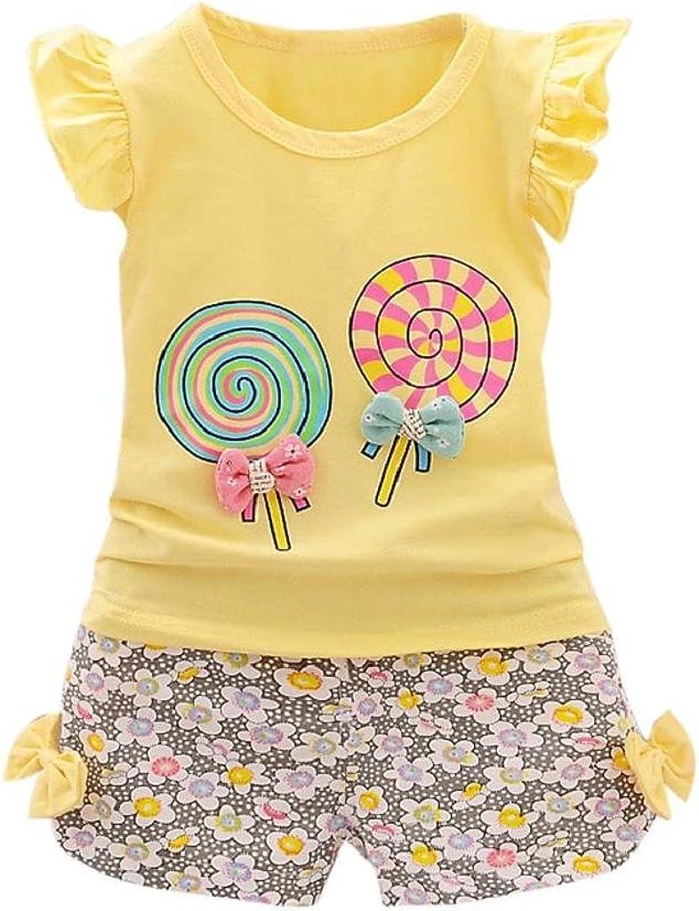 Ropa Bebe Niña Verano 2019 SHOBDW Tops+Pantalones Cortos Floral Conjuntos Bebé Niña Recién Nacida Camiseta Lolly Conjuntos Bebé Niña: Amazon.es: Ropa y accesorios