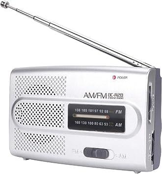 Altavoz de Radio portátil FM/Am, Receptor de Altavoz de Radio ...