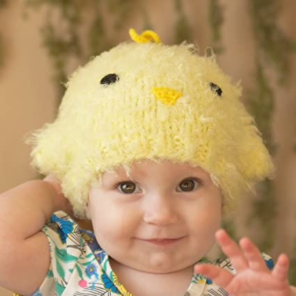3e14f0f48d0a3 Amazon.com  Huggalugs Baby and Toddler Peep Chick Knit Beanie Hat  Clothing