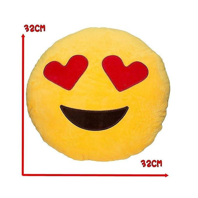 Amazon.com: JZK - 2 cojines de peluche con emoticonos y ...