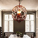Retro Chandeliers Personality Innovative Style Reminiscent Of The Iron Chandeliers Minimalist American Rural Study Lounge Restaurant Cafe Lamps, Black ,31W( )-40W( Included)