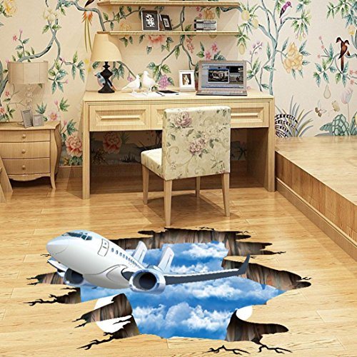 Install Granite Tile Wall (Wall Stickers, Forthery 3D Floor Mural Vinyl Art Room Decal Wall Sticker Home Decoration (B))