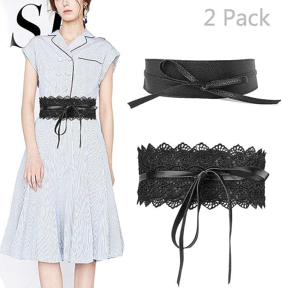 Soft Leather Ladies Women Casual Wrap Around Tie Corset Cinch Waist Belt Band