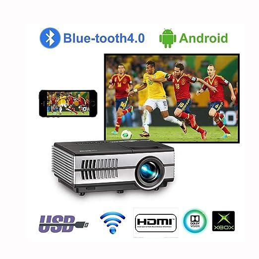 Mini proyector WiFi con Bluetooth 4500lumen LCD LED ...