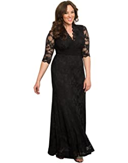 Kiyonna Womens Plus Size Screen Siren Lace Gown