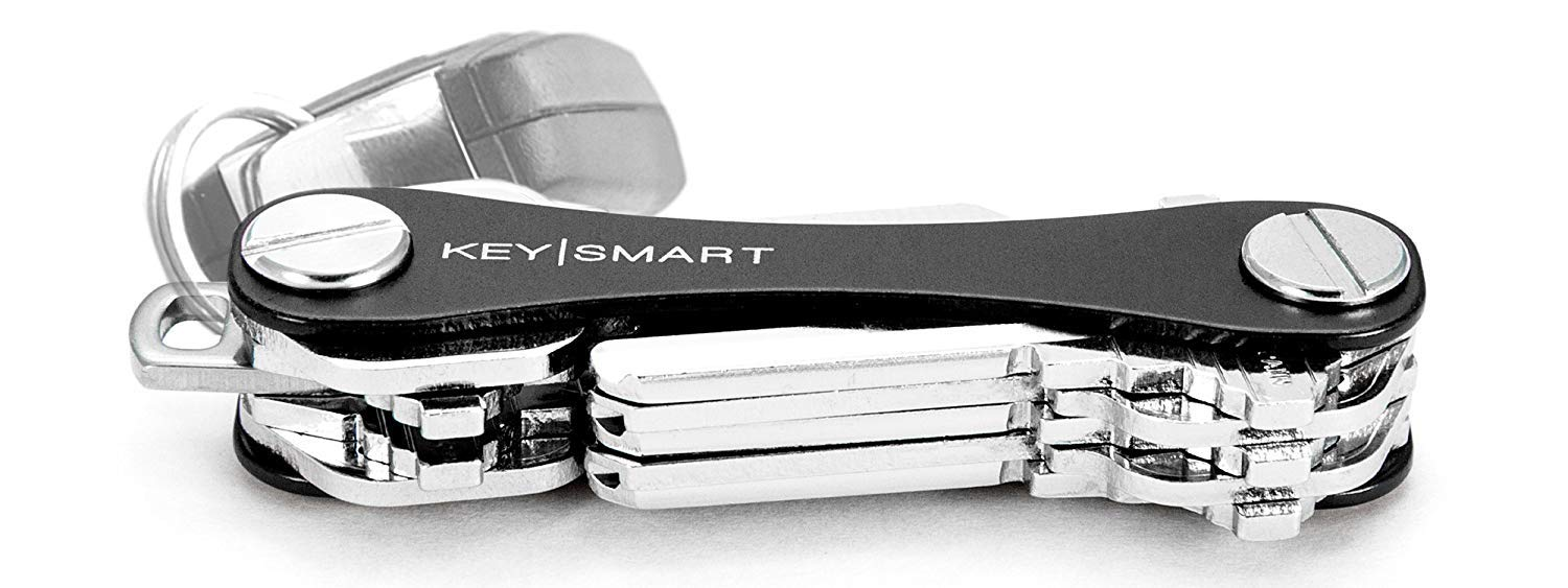 Minimalist Key Holder Black Smart Compact Key Ring Aluminum Keychain