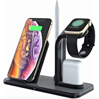 LA GUAPA Qi-Certified 10W Wireless Charging Station Dock