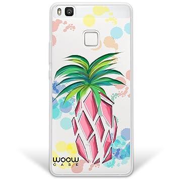 WoowCase Funda Huawei P9 Lite, [Hybrid] Frutas Piña Colada Case Carcasa [Huawei P9 Lite] Rígida Fabricada en Policarbonato y Bordes de TPU Silicona ...