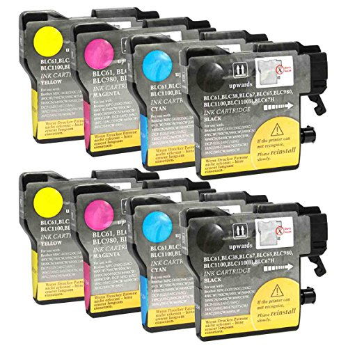 e Brother LC61 Ink Cartridges for DCP-165C, DCP-J140W, MFC-295CN, MFC-490CW, MFC-495CW, MFC-495CW, MFC-5490CN, MFC-5895CW, MFC-6490CW, MFC-J220, MFC-J270W Printers ()