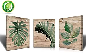 Banana Leaf Nature Wall Art Canvas Paintings kitchen Living room Painting For Wall Wall Art Green Tropical Leaf Art Small Wall Art FLower Canvas Wall Art Tropical Plant Wall Art Green Leaf Wall art