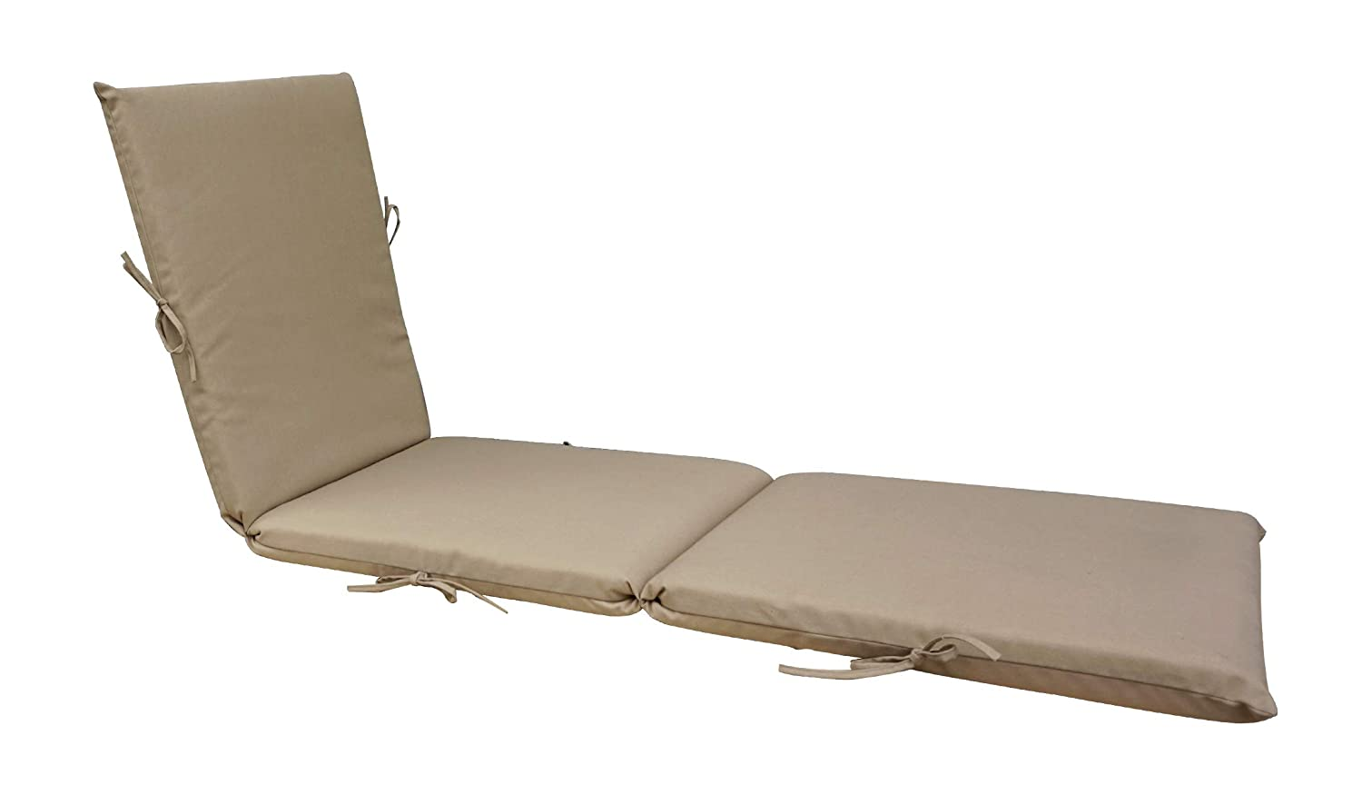 Bossima Indoor/Outdoor Light Khaki Chaise Lounge Cushion,Spring/Summer Seasonal Replacement Cushions