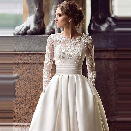 Robe de mariée à lacets À manches longues