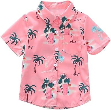 Taoytou - Camisa de verano para niños con estampado de ...