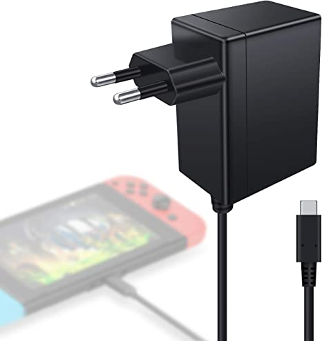 Kimood - Cargador para Nintendo Switch Lite y Switch Consola 15V ...