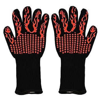 XMPS guantes de parrilla resistentes al calor para barbacoa de 932 ...