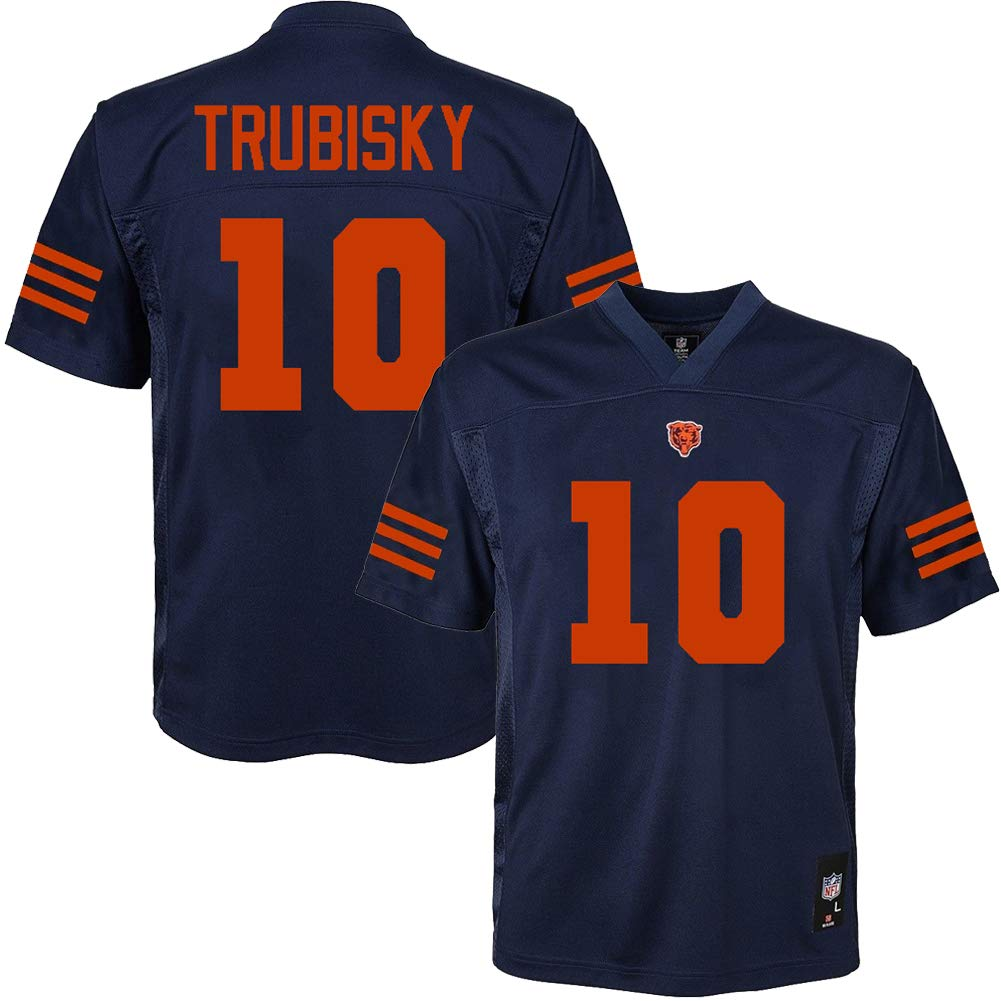 promo code d1f95 7a1cb Amazon.com : Mitchell Trubisky Chicago Bears #10 Navy Blue ...