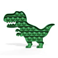 HILUDEER Push Pop Bubble It Popping Fidget Toy, Logic Strategy Board Games Anxiety and Stress Relief Sensory Toy for Kids and Adults (Green Dinosaur)