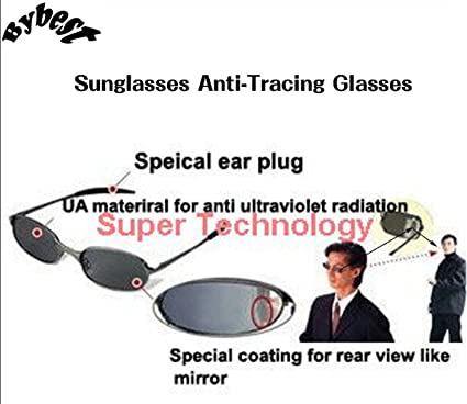 Sunglasses Anti-Tracing Glasses Outdoor Real Mirror Spy Camera View Review  Anti-Tracing Sunglasses 01202deb581b