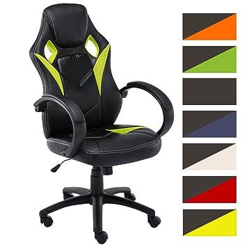 ... en Cuero Sintético I Silla Gamer Regulable en Altura I Silla Racing con Ruedas I Silla Gaming Sport Style I Color: Negro/Verde: Amazon.es: Hogar