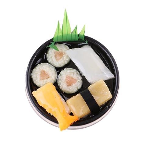 MagiDeal Vivido Sushi Cibo Giapponese Piatto Rotondo Accessori ...