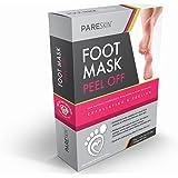 2 Pairs - PARESKIN Foot Peel Mask, Peeling Away, Dry Dead Skin, Callus Remover Spa Pads, Repair Rough Cracked Heels - Naturally Silky Soft Feet - Detox Exfoliating Socks