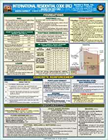 2012 international residential code quick card builder 39 s for International residential code irc