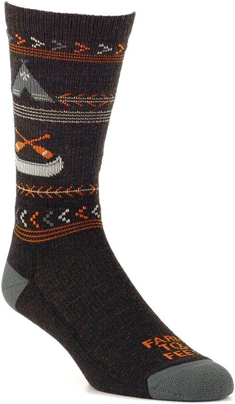 Farm to Feet Mens Franklin Lightweight Crew Socks
