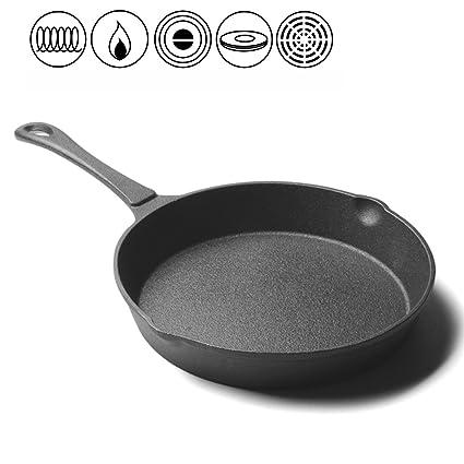LLW-Frying Pans Sartén Sartenes Gruesas Sartén Sin Revestir Hierro Fundido Sartén Antiadherente Hierro Fundido