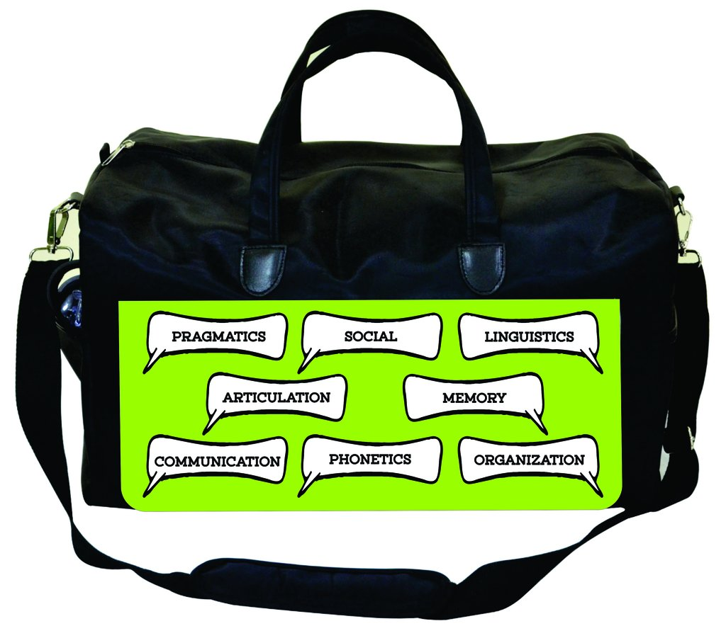 Quotation Symbols-on Lime Jacks Outlet Speech Therapist Bag Speech Therapy Terms