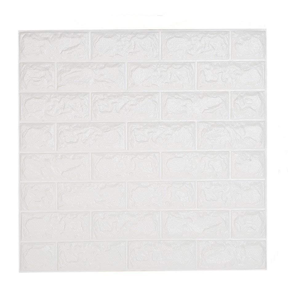 10 Blatt Ziegelstein Tapete Weiß Shkax 60x60cm 3d Tapeten 3d Effekt