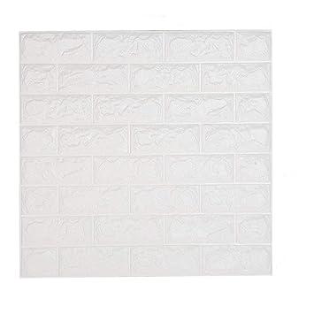 Shkax Papier Imitation Brique Blanc Papier Peint Enfants Autocollant  Décoratifs Carrelage Adhésif Effet 3D 60x60cm Amovible