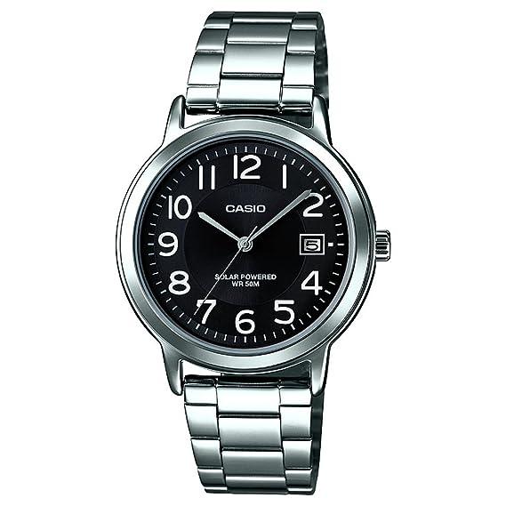 fcdee4501d2e Casio Reloj Analógico-Digital para Hombre de Cuarzo con Correa en Acero  Inoxidable MTP-S100PD-1B  Amazon.es  Relojes