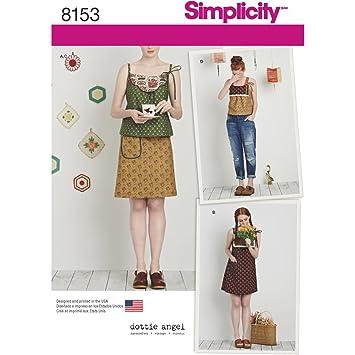 Simplicity Muster 8153, Dottie Angel, Kleid mit Oberteil und Rock ...