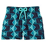 Vilebrequin - Graphic Fishes Boy Swimwear - Boys - 6 years - Prussian Blue