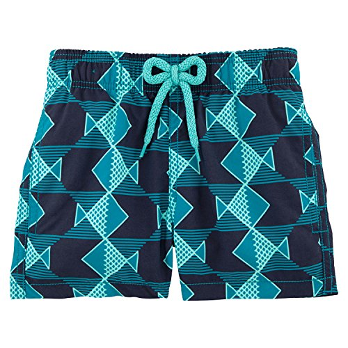 Vilebrequin - Graphic Fishes Boy Swimwear - Boys - 8 years - Prussian Blue by Vilebrequin
