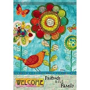 Carson Home Accents FlagTrends clásicos bandera de Jardín, 13por 45,72cm, Welcome amigos y familia