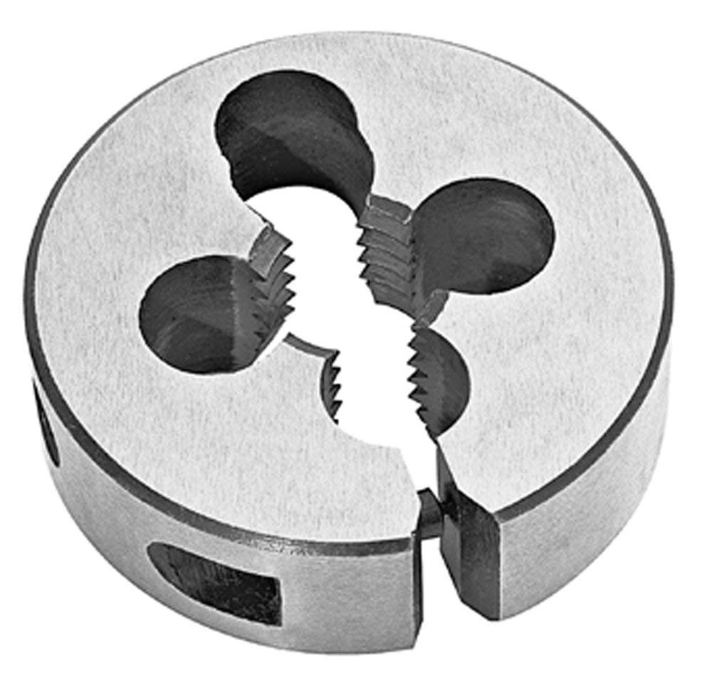 Standard Thread Round Die, High Speed Steel 1/4-20 X 1 1/2'' O.D. (2 Pcs.) by Meda - Superior Import