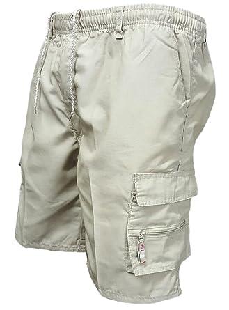 7ce46ed5c7 Generic Men's Elastic Waist Cargo Shorts Straight Multi-Pocket Outdoor  Shorts | Amazon.com