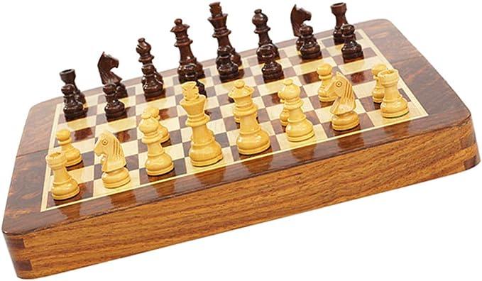 Baoblaze Juego de Tablero de Madera Juego de Ajedrez para Viajar Juegos de Mesa Internacionales: Amazon.es: Juguetes y juegos