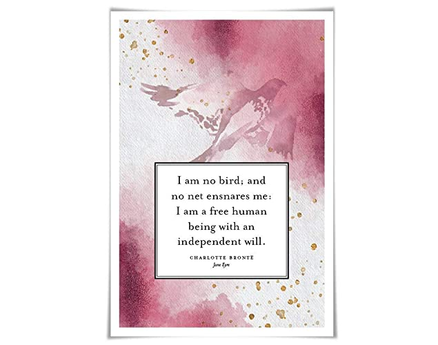 Amazon Com Jane Eyre Quote Art Print 3 Sizes I Am No Bird
