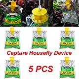 Celendi 5PCS Disposable Fly Trap Catcher Fly Catcher Insect Trap Hanging Style Pest Control