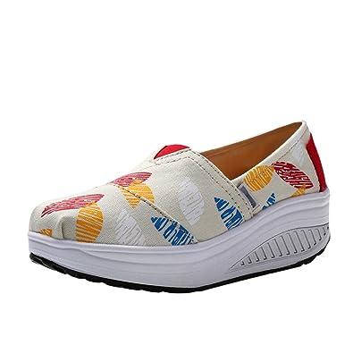 acheter populaire 121c5 3b756 Cayuan Femme Chaussures en Canvas Impression de Mode ...