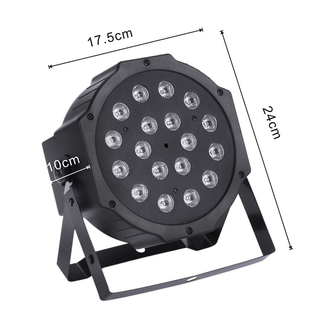 XPC 18 X 3W LED DJ Par Lights 54W RGB PAR64 DMX512 For Stage Party Show Dj Stage Lights for Birthday Party stage lights (8Pack) by XPC (Image #1)