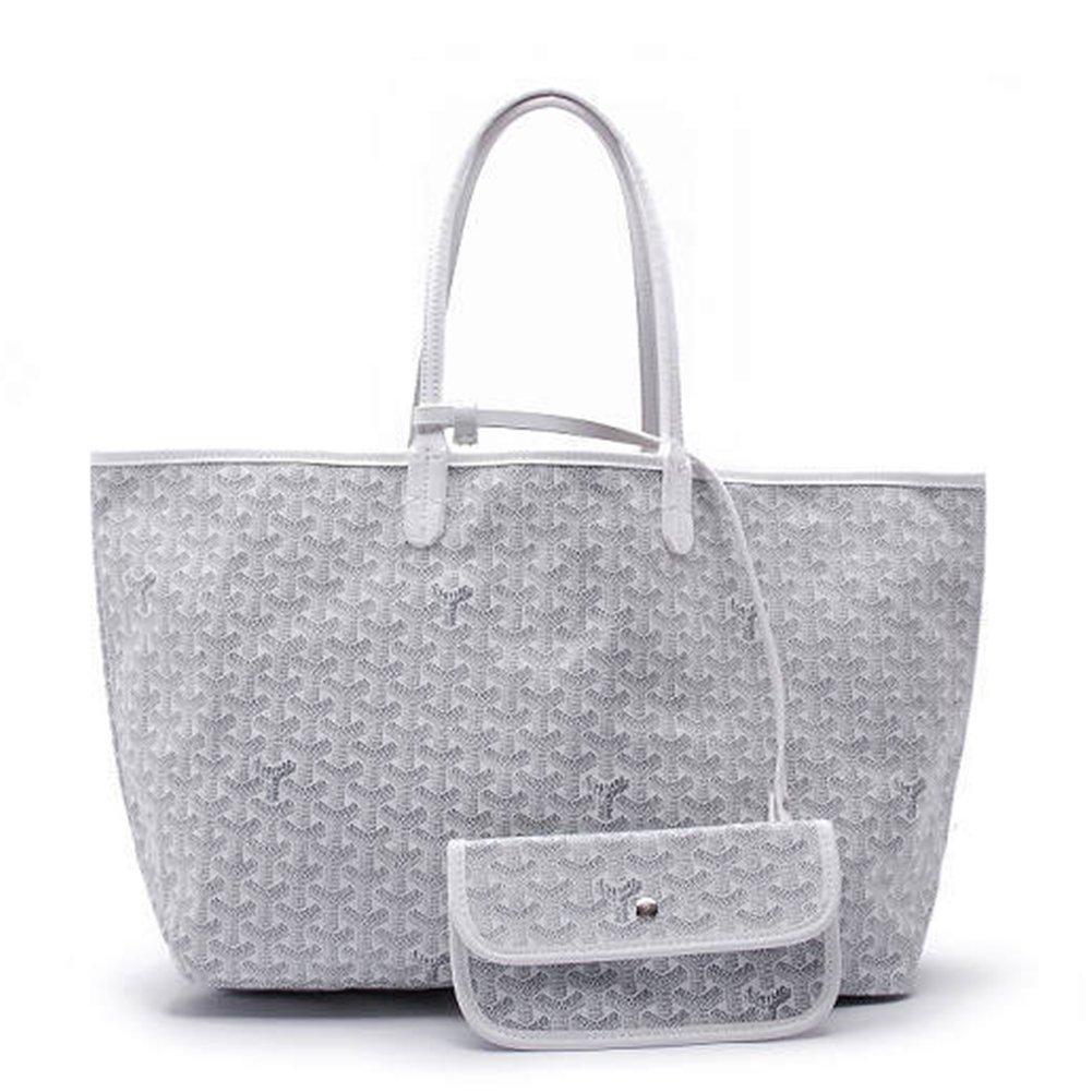 Agote Women Fashion Shipping Shoulder Tote Bag Set (WHITE.)
