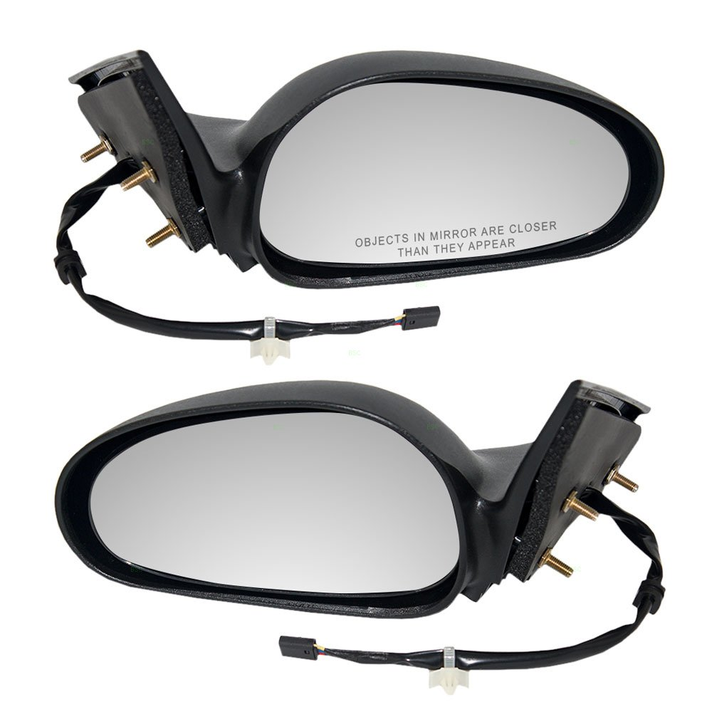 Driver and Passenger Power Side View Mirrors Textured Replacement for Ford F6ZZ 17682 BA F6ZZ 17682 AA