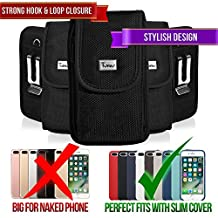 Rugged Case for Sony Xperia X10 Mini, TMAN Premium Vertical Pouch Protective Carrying Holster with Belt Clip (Fits with Silicone, Snap, Bumber and Thin Protective Case)