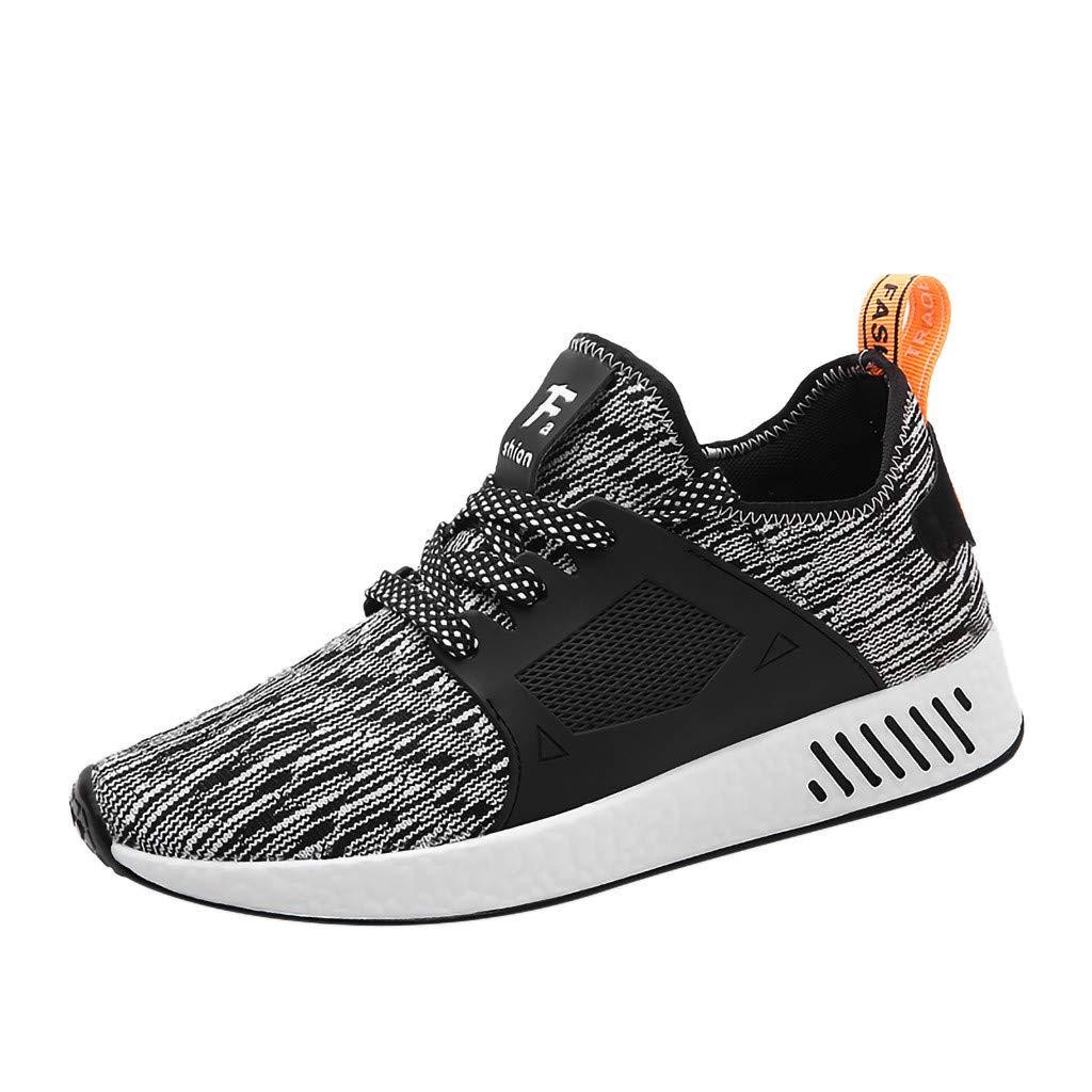 Zapatillas para Hombre,JiaMeng Zapatillas de Deporte de Malla Transpirables al Aire Libre Versátiles Zapatos Ligeros y Casuales Gimnasio Correr Sneakers