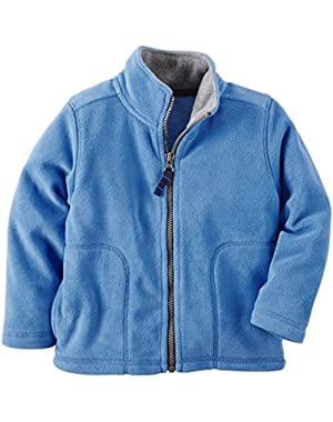 Carter's Boy's Blue Full Zip Fleece Jacket (3 Months)