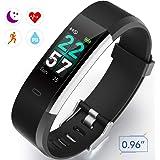 Smart Technic Fitness Tracker Schermo Digitale Colorate, tracciato delle attività, Cardiofrequenzimetro Pedometro Polso Contapassi Conta Calorie Impermeabile IP68 Braccialetto per iOS e Android